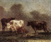 POTTER, Paulus Cows in a Meadow af oil painting artist